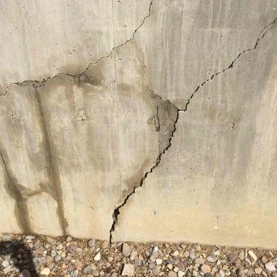 water cracks in concrete