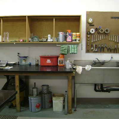 sink and tools